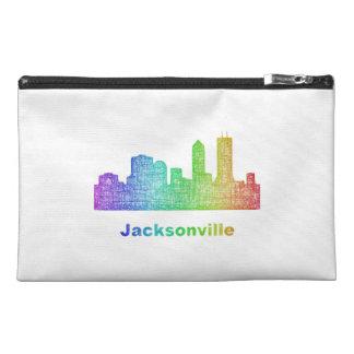 Rainbow Jacksonville skyline Travel Accessory Bag