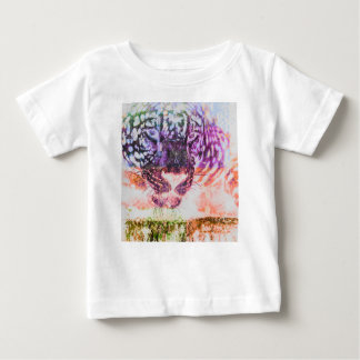 Rainbow Jaguar Cat Design Baby T-Shirt