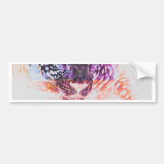 Rainbow Jaguar Cat Design Bumper Sticker