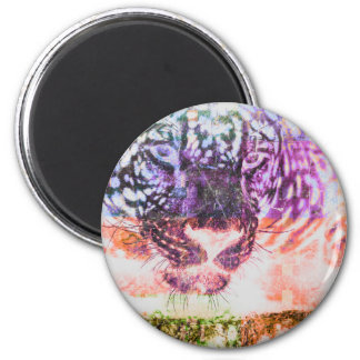Rainbow Jaguar Cat Design Magnet