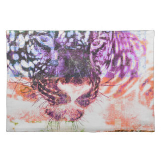 Rainbow Jaguar Cat Design Placemat
