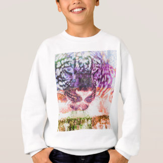 Rainbow Jaguar Cat Design Sweatshirt