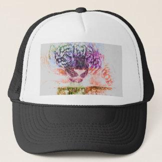 Rainbow Jaguar Cat Design Trucker Hat