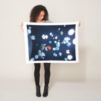 Rainbow Jelly Fish  Monogram Blanket