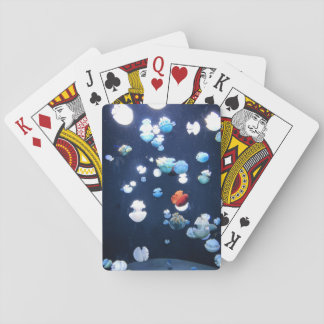 Rainbow Jelly Fish  Monogram Playing Cards