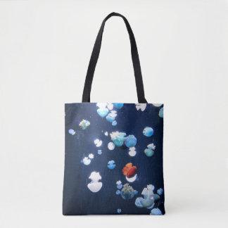 Rainbow Jelly Fish  Monogram Tote Bag