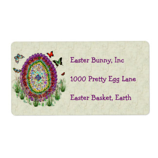 Rainbow Jewels Easter Egg Shipping Label