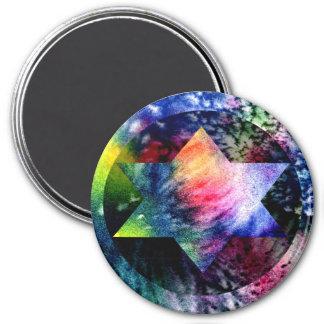 Rainbow Jewish Star Magnet