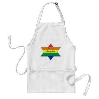 Rainbow Jewish Star Standard Apron