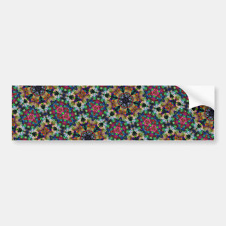 Rainbow Kaleidoscope Triangle Psychedelic Snap Bumper Sticker