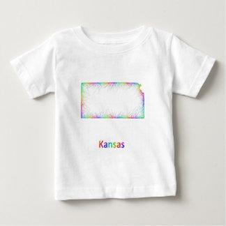 Rainbow Kansas map Baby T-Shirt