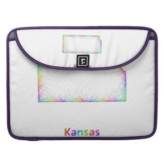 Rainbow Kansas map Sleeve For MacBook Pro