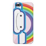 Rainbow Kawaii Pink Background iPhone 5 Cases