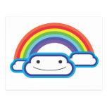 Rainbow Kawaii Postcard