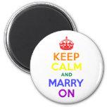 Rainbow Keep Calm and Marry On Magnet