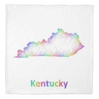 Rainbow Kentucky map Duvet Cover