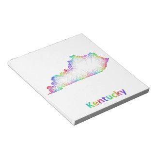 Rainbow Kentucky map Notepads