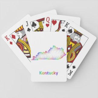 Rainbow Kentucky map Poker Deck