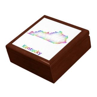Rainbow Kentucky map Trinket Boxes