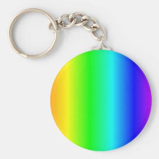 Rainbow keyring basic round button keychain