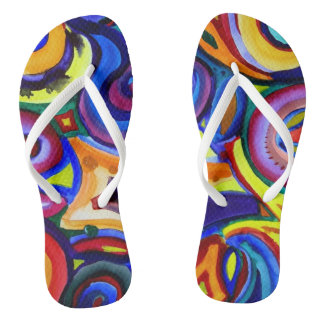 Rainbow Kicks Flip Flops