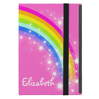 Rainbow kids girls name pink case