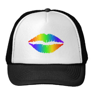 Rainbow Kiss, Colorful Lips Trucker Hat