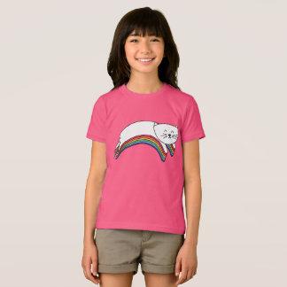 Rainbow Kitty Cute Kawaii Cartoon Cat T-Shirt