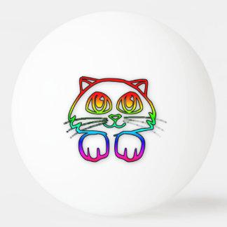 Rainbow Kitty ping pong ball
