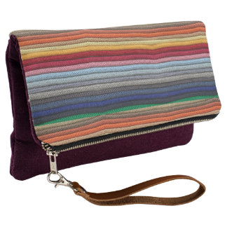 Rainbow Knit Clutch