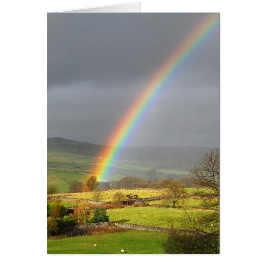 Rainbow landscape card
