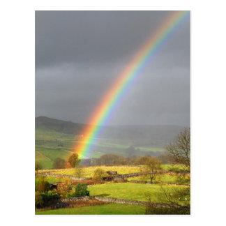 Rainbow landscape postcard