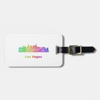 Rainbow Las Vegas skyline Bag Tag