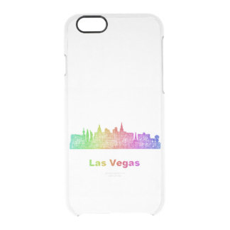 Rainbow Las Vegas skyline Clear iPhone 6/6S Case