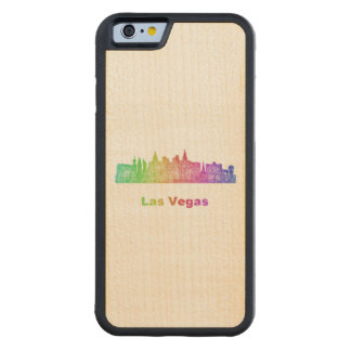 Rainbow Las Vegas skyline Maple iPhone 6 Bumper Case