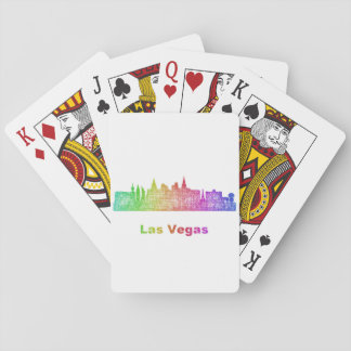 Rainbow Las Vegas skyline Playing Cards