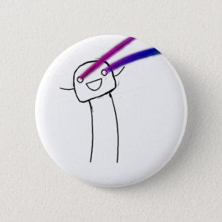 Rainbow Lazers 2 Inch Round Button