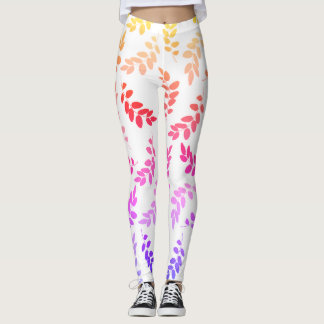 Rainbow Leaves Leggings