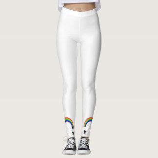 Rainbow Leggings with a star