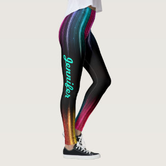 Rainbow Leggings Your Name Women's Exercise Pants