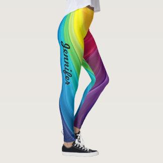Rainbow Leggings Your Name Yoga Pants Tights
