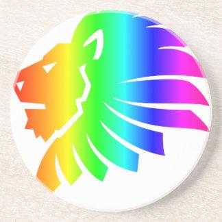 Rainbow Leo #2 Coasters