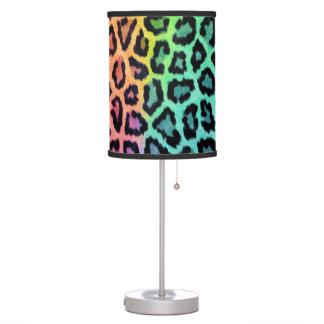 Rainbow Leopard Lamp