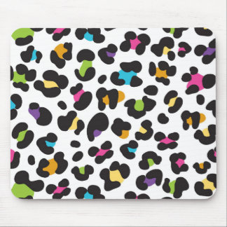 Rainbow Leopard Pattern Mouse Pad