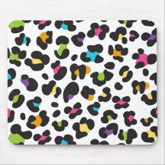 Rainbow Leopard Pattern Mouse Pad