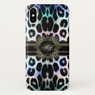 Rainbow Leopard Personalized iPhone X Case