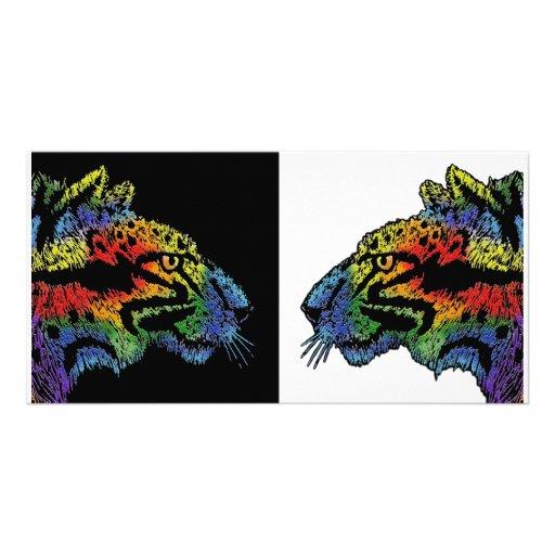 Rainbow leopard photocard photo cards