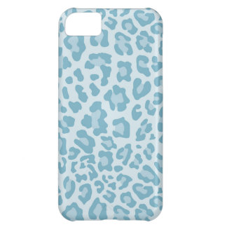 Rainbow Leopard Print Collection - Light Blue Case For iPhone 5C