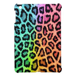 rainbow leopard print ipad mini case
