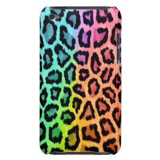 rainbow leopard print ipod touch case
